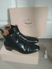 Prada Women's Boots Black Leather Size 40
