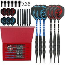 Black Scorpions Professional Competition Metal Steel Tip Needle Darts 6PCS /Set