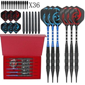 Black Scorpions Professional Competition Metal Steel Tip Needle Darts 6PCS /Set