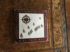 Kieler Plakette 1975. Deutsche Meisterschaft Internationale Olympische Klassen