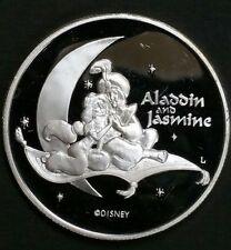 Disney's Aladdin Princess Jasmine Liberty Mint 1 Oz .999 Fine Silver Rare Coin