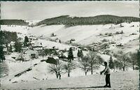 Ansichtskarte Todtnauberg Hochschwarzwald Skifahrer  (Nr.9346)