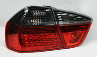 Red Smoke LED G1 Tail Lights Pair RH LH FITS BMW 3 Series 06-08 E90 4Dr Sedan