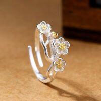 schmuck hochzeit blume geformt 925 versilbert verstellbare ringe kirschblüte