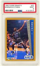 SHAQUILLE O'NEAL 1992 Fleer Drake's #37 ROOKIE Card RC PSA 9 MINT SHAQ