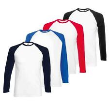 Cotton Long Sleeve Basic T-Shirts for Men with Multipack