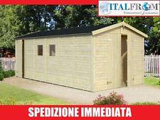 Box Casette di Legno Casetta da Giardino in Legno d'Abete 16mm 14mq ITALFROM43