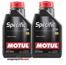 Aceite Motul Specific 0720 5W30 Renault motor Filtro Partículas FAP, pack 2 ltrs