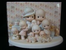 Precious Moments *HUGE* 5 Year Anniversary Family Figurine-1985 Limited Edition