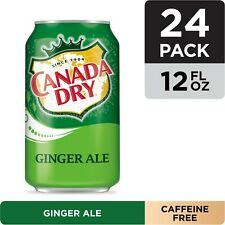 24-PACK Canada Dry Ginger Ale Refreshing Drink 12 oz Cans FREE SHIPPING