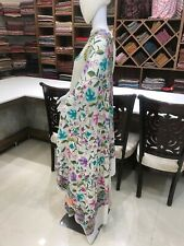 Semi-Crepe Aari Embroidered Kashmiri Saree, Indian Ethnic Dress, Girls Sarees