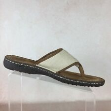 56b06694173b UGG AUSTRALIA B04 Chestnut Leather Banded Wool Lined Slip On Sandals Men s  Sz 11