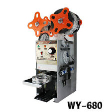 220V WY-680 Semi-automatic Bubble Tea Cup Sealing machine Juice Cup Sealer  Y