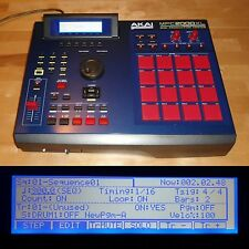 CUSTOM Akai MPC 2000XL Blue RED LEDs/PADS 1GB CF Drive MAXED RAM FULLY SERVICED