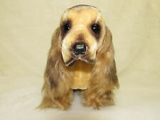 Vtg Japan Mohair Stuffed Cocker Spaniel Puppy Dog Plush Transistor Radio-Working