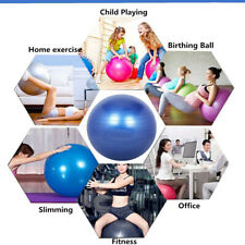 Gymball Palla Da Ginnastica 75Cm Gonfiabile utilizzo Yoga Pilates Fitness dhf