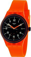 Swatch Men's Sistem51 SUTO401 Orange Silicone Automatic Fashion Watch
