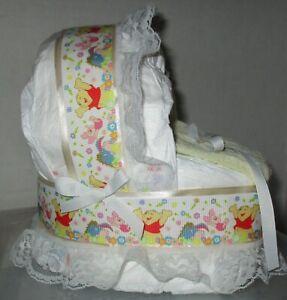 Winnie The Pooh Mini Diaper Cake Bassinet Baby Shower Gift Centerpiece