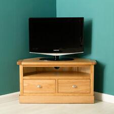 Hampshire Oak Corner TV Stand / Light Oak TV Cabinet / Solid Wood with Drawers