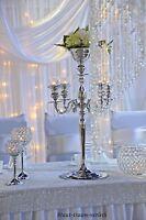 Kerzenleuchter, Kerzenständer, silber, inkl. Flowerbowl, Hochzeit, zur Miete!