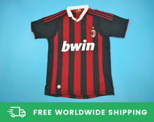 AC Milan 2009-2010 Short-Sl. Jersey Maglia Shirt Ronaldinho Beckham Sizes S-XXL