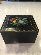 Antique 1920's Primitive Hand-painted Folk Art American Toleware Tin Soap Box