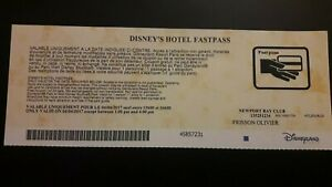 pass Disney Disneyland FASTPASS hôtel Newport  Bay Club   TTB