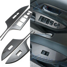 Carbon Fiber Texture Door Window Switch Panel Cover Trims For Honda Accord 13-17