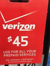 $45 Verizon Prepaid Monthly refill Direct Fast Refill 7 DAYS Services