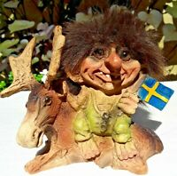 Nyform Troll with Broomstick Figure NEW