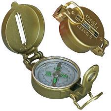 Haller Outdoor Kompass im Metallgehäuse Vergrößerungsglas Wandern Orientierung