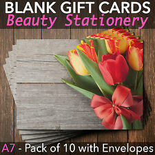 Gift Voucher Cards for Massage/Beauty/Nail/Hairdressers - x10+FREE Envelopes T