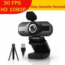 1080p Full HD 30FPS Webcam USB2.0 3.0 Webkamera für Laptop PC Kamera +Halterung