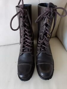 Ladies Brown Joe Browns Boots Size 5 three quarter length lace up