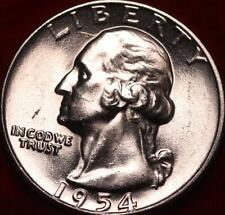 Uncirculated 1954  Philadelphia Mint Silver Washington Quarter