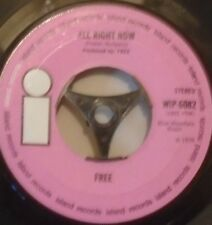 "FREE - All Right Now ~ 7"" Single PINK / WHITE I"