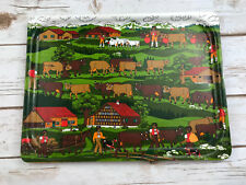 Vintage Platex Serving Tray #35 Switzerland Village Swiss Made Reuge Ste-Croix