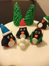 Penguin Cake/Cupcake Fondant Toppers