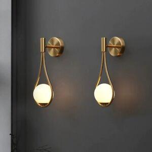 Led Outdoor Lighting Wall Lamp Mirror Fixture Night Glass Golden Bulb home décor