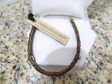 "7"" Cowboy Collectibles Authentic Horse Hair Leather Bracelet New W Tags"
