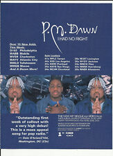 P.M. DAWN I had Right Trade Ad POSTER of Dearest CD PM