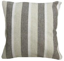 Qa-Perfect Match Checker Stripe Linen Cotton Blend Cushion Cover/Pillow Case