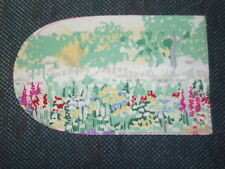 6 oven glove fabric pieces - FLOWERS - MONET-LIKE PRINT
