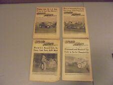LOT OF 4 1957 DRAG NEWS NHRA NEWSPAPERS,AHRA,IHRA, FUELERS,IVO,GARLITS,,LANGLEY