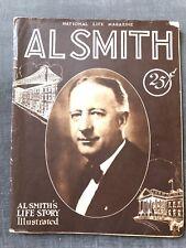 1928 AL SMITH'S Life Story Governor National LIFE MAGAZINE Circus Bellevue Photo