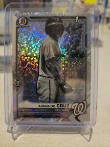 ARMANDO CRUZ REFRACTOR Mini DIAMOND Black & White 2021 Bowman Chrome 1st BCP-247