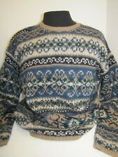 Abercrombie & Fitch Wool Navy & Taupe Sweater - Men's  M