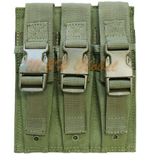 MOLLE Triple MP5 .22 or 9mm Mag Magazine Pouch Flap PAL - OD GREEN