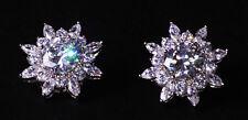 Opulent Candere Cubic Zirconium Sun Flower/exquisite Chrome Stud Earrings(Cl35)