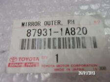 GENUINE RIGHT DRIVER SIDE MIRROR GLASS FOR  TOYOTA COROLLA AE112 1998 - 2001